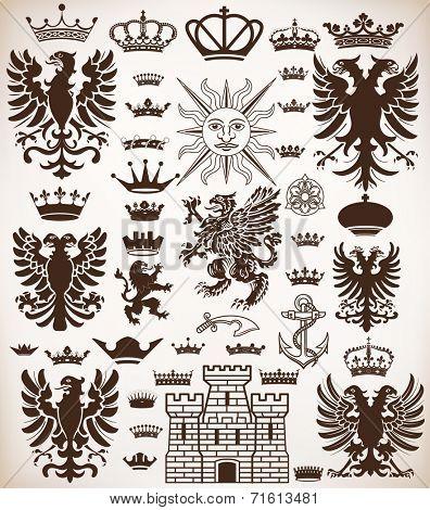 Vector. Heraldic elements