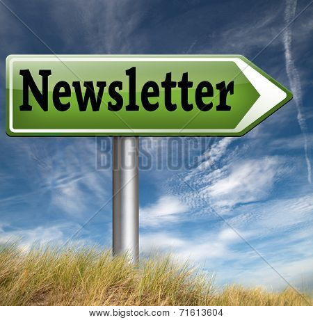 Newsletter sign with hot news items and latest articles