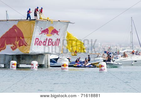 Sesame Street Boys Team At The Red Bull Flugtag