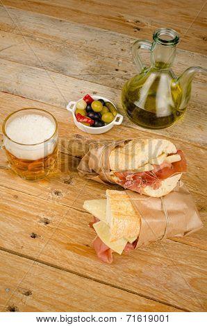Ham And Cheese Bocadillo