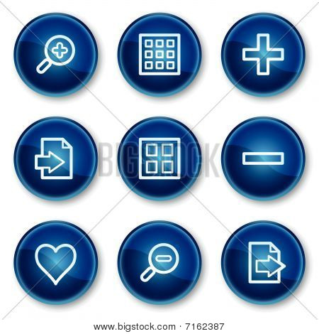 Image viewer web icons set 1, blue circle buttons