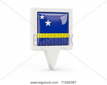 Square Flag Icon Of Curacao