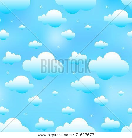 Seamless Blue Clouds
