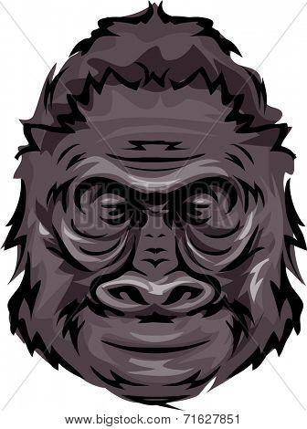 Illustration Featuring a Gorilla