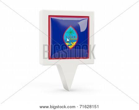 Square Flag Icon Of Guam