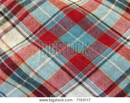 Background image of plaid material