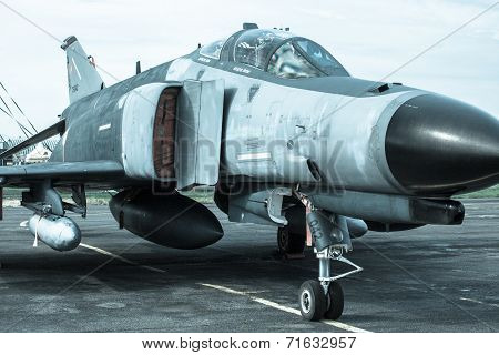 Airplane F-4 Phantom At Airshow