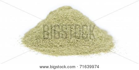Lovage Powder Over White