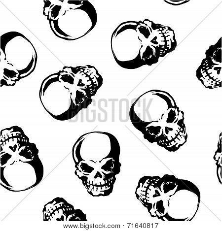 pattern of skull,