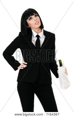 Drunken Businesswoman