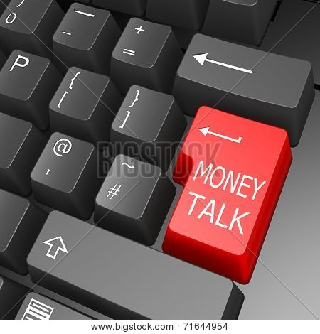 Money Talk Key On Computer Keyboard