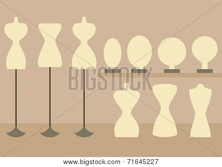Fashion Female Mannequins Set