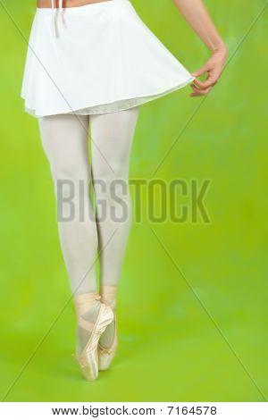 Closeup Of Ballerinas Legs