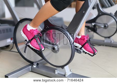 Exercise bike with wheels.