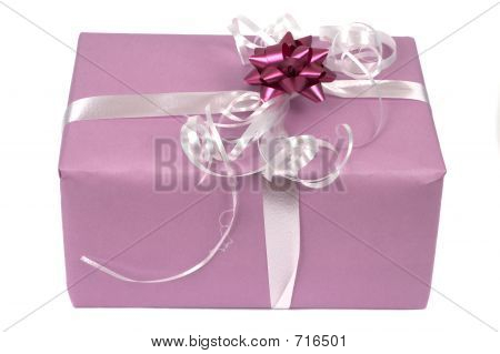 pink gift package