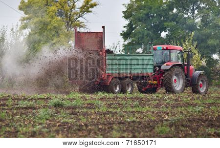 Fertilizing Field