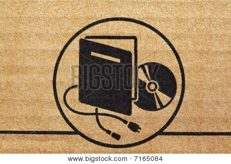 Electronic Mark On Cardboard