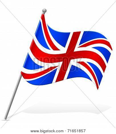 Flag Of United Kingdom Vector Illustration