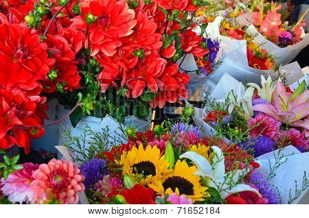 Colorful Flower Market