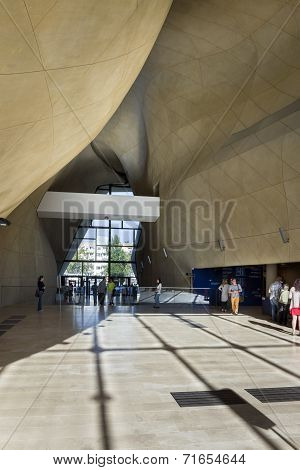Modern Entrance Hall In Museum Of History Of Polish Jews In Warsaw.