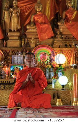 A Monk Praying