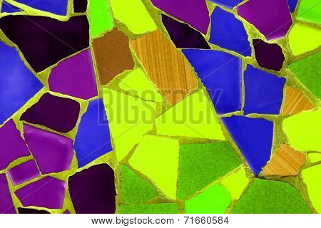 Photo Of Ceramic Mosaic Pattern Made In The Summer Time In Spain,