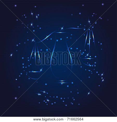 Libra zodiac whith glitter star