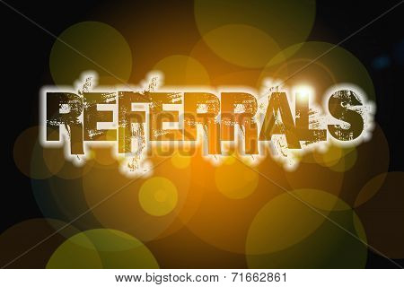 Referrals Concept