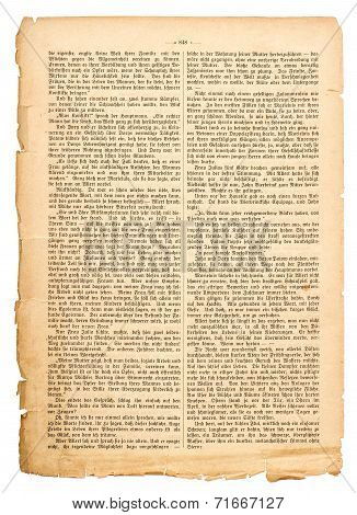 Grunge Page Of Undefined Antique Book With German Text