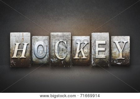 Hockey Letterpress