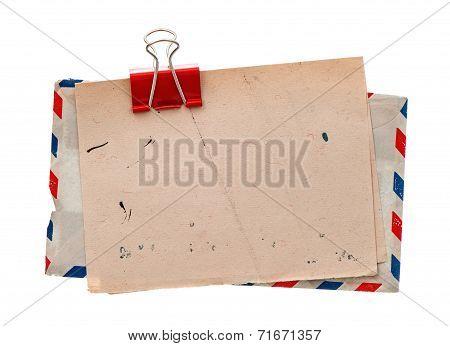 Vintage Air Mail Envelope. Retro Post Letter