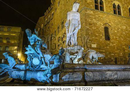 Florence, Piazza della Signoria, the Fountain of Neptune