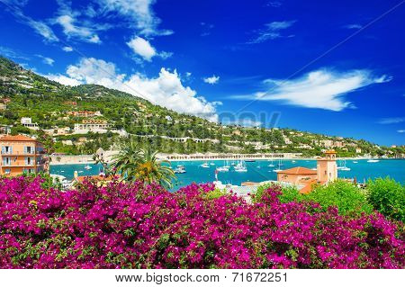 French Reviera, View Of Luxury Resort Near Nice And Monaco