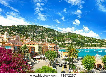 French Reviera, Mediterranean Sea Landscape