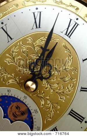 Clock Face Close Up