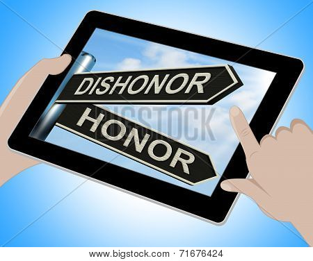 Dishonor Honor Tablet Shows Disgraced And Respected