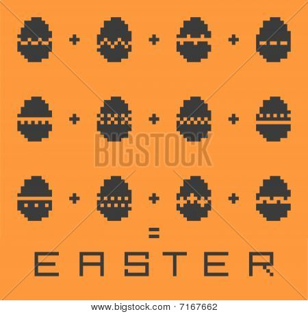 Easter vector pixel background