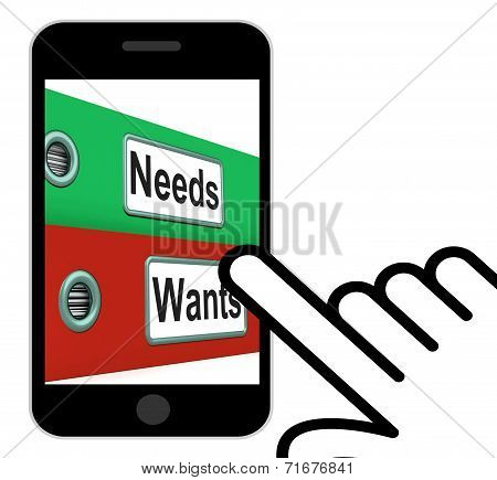 Needs Wants Folders Displays Requirement And Desire
