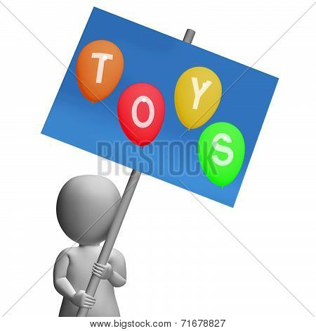 Toys Sign Represent Kids And Children's Playthings