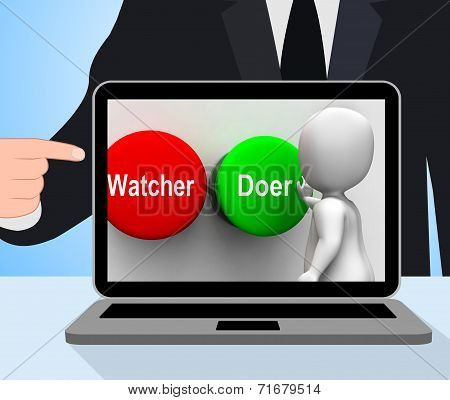 Watcher Doer Buttons Displays Active Inactive Personality Type