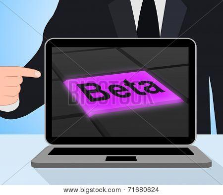 Beta Button Displays Development Or Demo Version