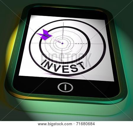 Invest Smartphone Displays Investors And Investing Money Online