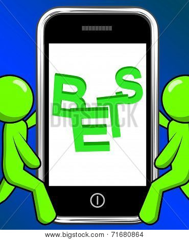 Bets On Phone Displays Online Or Internet Gambling