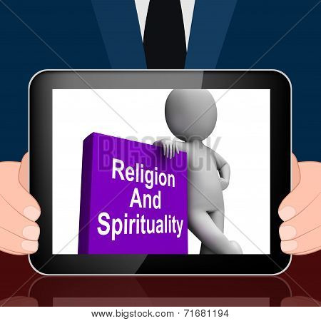 Religion And Spirituality Book With Character Displays Religious Spiritual Books