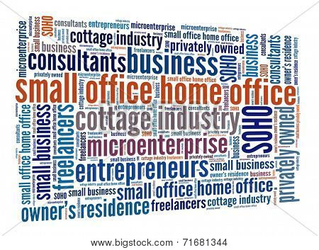 Small Office Home Office concept in word collage