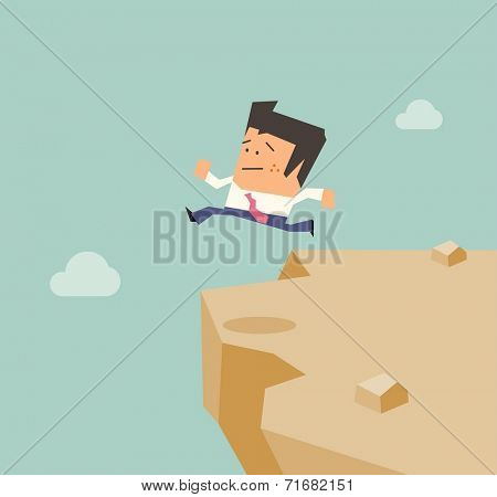 Desperate from business. Flat vector illustration