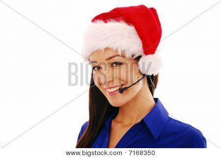 Festive Office worker
