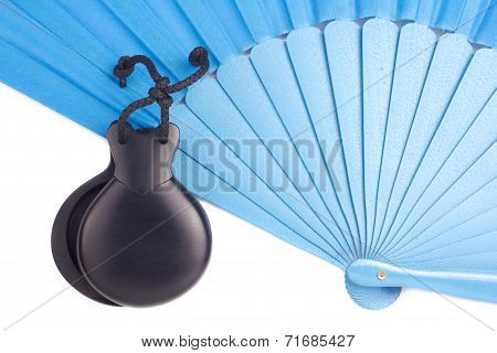 Flamenco castanets and fan