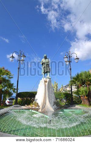 Beautiful fountain in amalfi, Campania in Italy