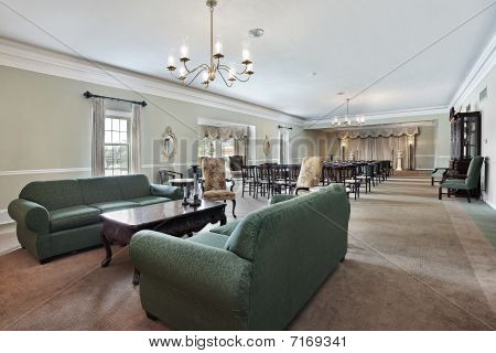 Funeral Home With Couches And Chairs